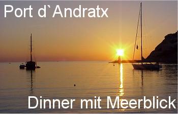 Port Andratx: Dinner mit Sonnenuntergang